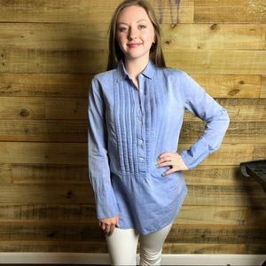 J Crew, denim dress shirt